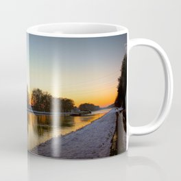 Winter sun early morning waterfront Coffee Mug