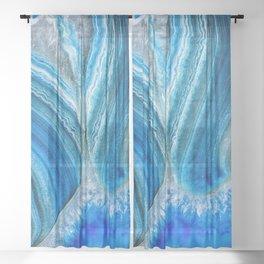 Blue Agate 2973 Sheer Curtain