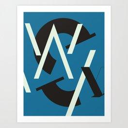 Alphabet Project Art Print