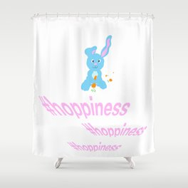 #hoppiness Shower Curtain