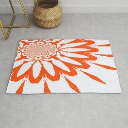 The Modern Flower White & Orange Rug