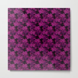 Floral pattern with flowers gzhel Metal Print