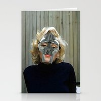 mf doom Stationery Cards featuring MF Monroe by TheArtGoon