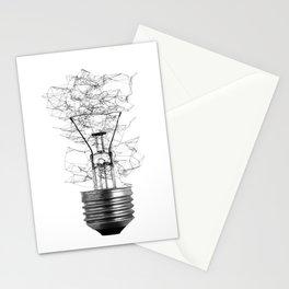 Line Light Bulb Stationery Cards