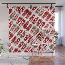 Cute Flip Flops Holiday Pattern Wall Mural