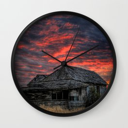 Shake House in Sunset Wall Clock