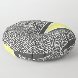Abstract Mountain Range Floor Pillow
