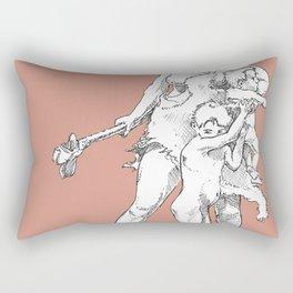 Neanderthal girl Rectangular Pillow
