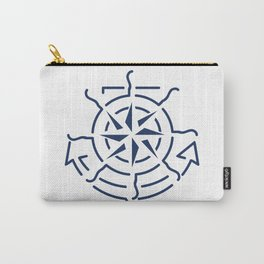 Nautical minimal lineart symbols combination Carry-All Pouch