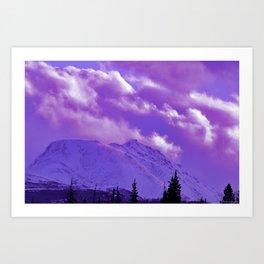2493 Ultra_Violet Storm Over Flat_Top Art Print