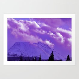 2493 Ultra_Violet Storm Over Flat_Top Art Print