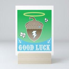 Good Luck Acorn Halo Mini Art Print