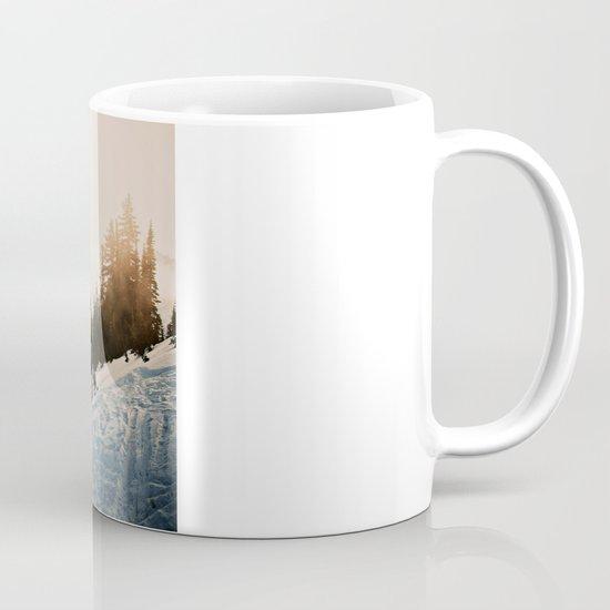Winter Mountain Hike Coffee Mug