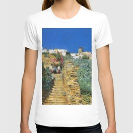 Classical Masterpiece 'Church Procession, Spain, Spanish Steps' by Frederick Childe Hassam T-shirt
