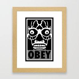 John Carpenter's They Live X OBEY  Framed Art Print