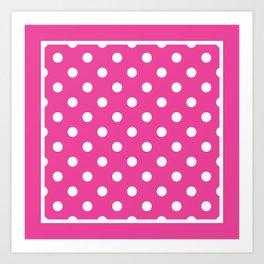 Flamingo Pink Polka Dots Palm Beach Preppy Art Print