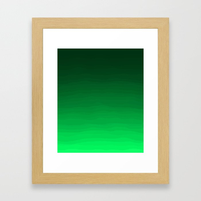 Happy Bright Apple Green Ombre Framed Art Print