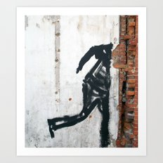 People Disappear, Right Before Our Eyes, Like Old Bricks In a Wall Art Print