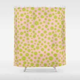 Kiwi Polka Dot Pattern Shower Curtain