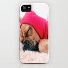 Hank sleeping, softly iPhone Case