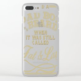 Old school Dad Bod Clear iPhone Case