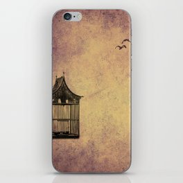 birds and freedom concept iPhone Skin
