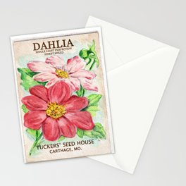 Dahlia Seed Packet Stationery Cards