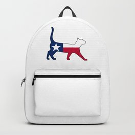 State of Texas Flag for Cat Lovers Backpack