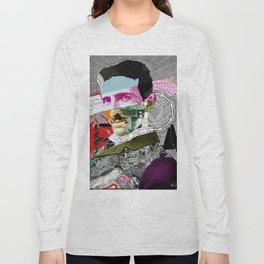 Nikola Portrait Collage Art Long Sleeve T-shirt