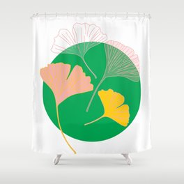 Ginkgo - the leaf of life Shower Curtain