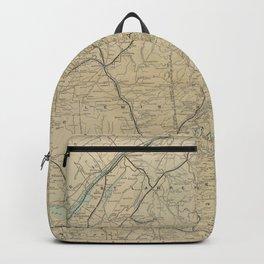 Vintage Adirondack Mountains Railroad Map (1895) Backpack