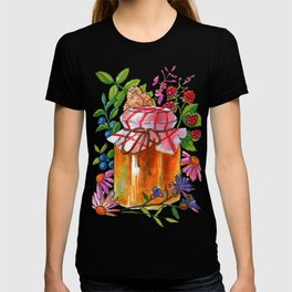 Honey Jar with Flowers, Herbs and Berries T-shirt