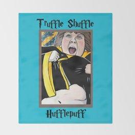 Truffle Shuffle Hufflepuff Throw Blanket