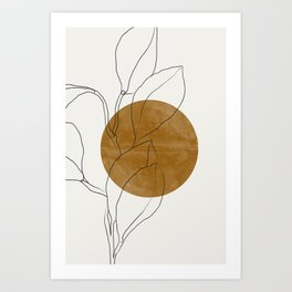 Line Art Home Plant Art Print