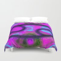 cancer Duvet Covers featuring Cancer by Synesthetic