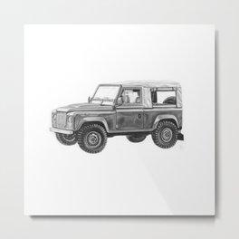 Retro Landrover Metal Print