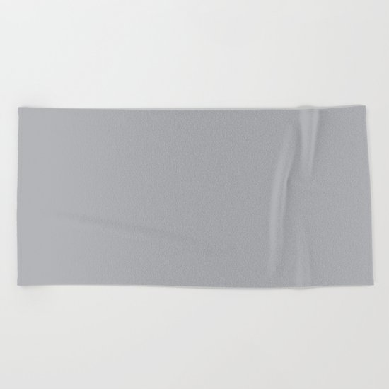 Simply Concrete Gray Beach Towel
