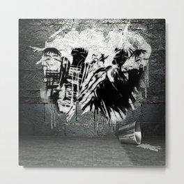 Original Grace&Manners image - Banksy - GRAFITTI Metal Print