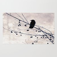 crow Area & Throw Rugs featuring Crow by Maite Pons