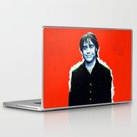 brad pitt Laptop & iPad Skins featuring Brad Roberts by Alec Goss