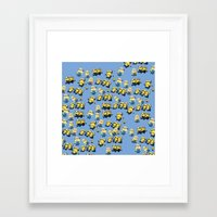 minions Framed Art Prints featuring Minions by Illuminany