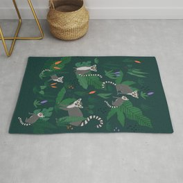 Lemurs in the Forest Rug