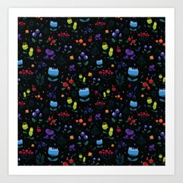 Magical berries Art Print