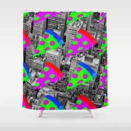 Pizza Invasion NYC Shower Curtain