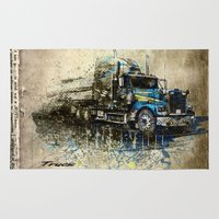 truck Area & Throw Rugs featuring Truck by Svetlana Sewell