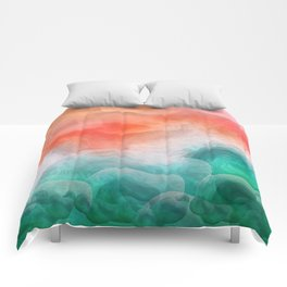 """""""Coral sand beach and tropical turquoise sea"""" Comforters"""