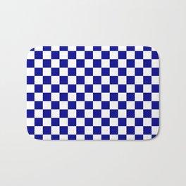 Jumbo Blue and White Australian Racing Flag Checked Checkerboard Bath Mat