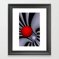 opart tunnel - portrait format -1- Framed Art Print