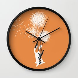 Bunny and Dandelion Bouquet Wall Clock