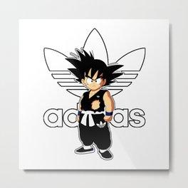 Goku Addidas Metal Print
